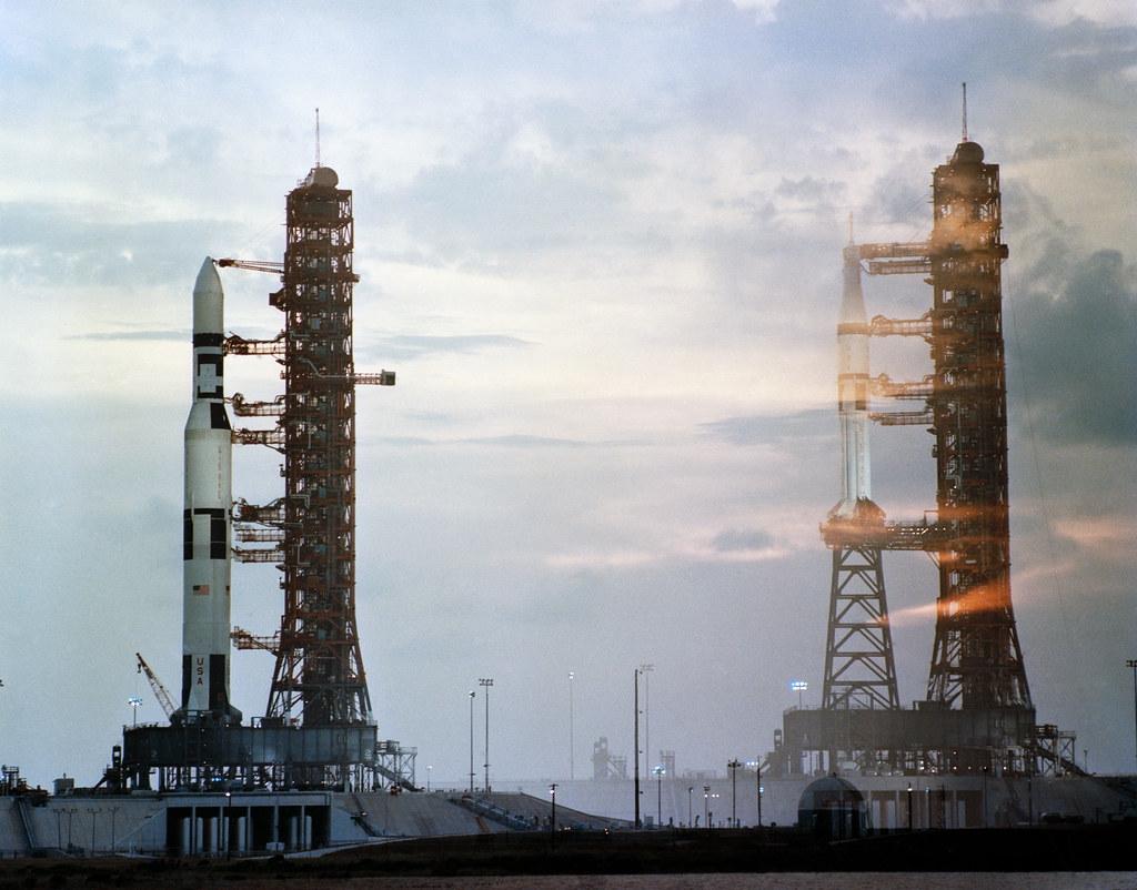Double Exposure of Skylab 1 and Skylab 2  S7325654 7
