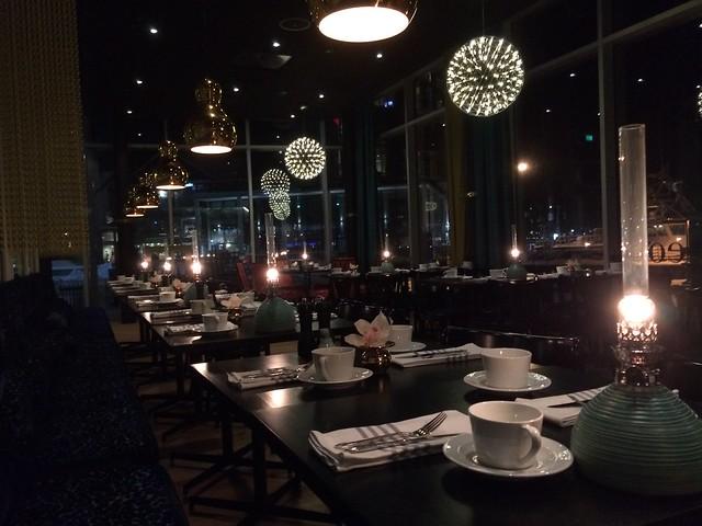 Het restaurant voor ons alleen.