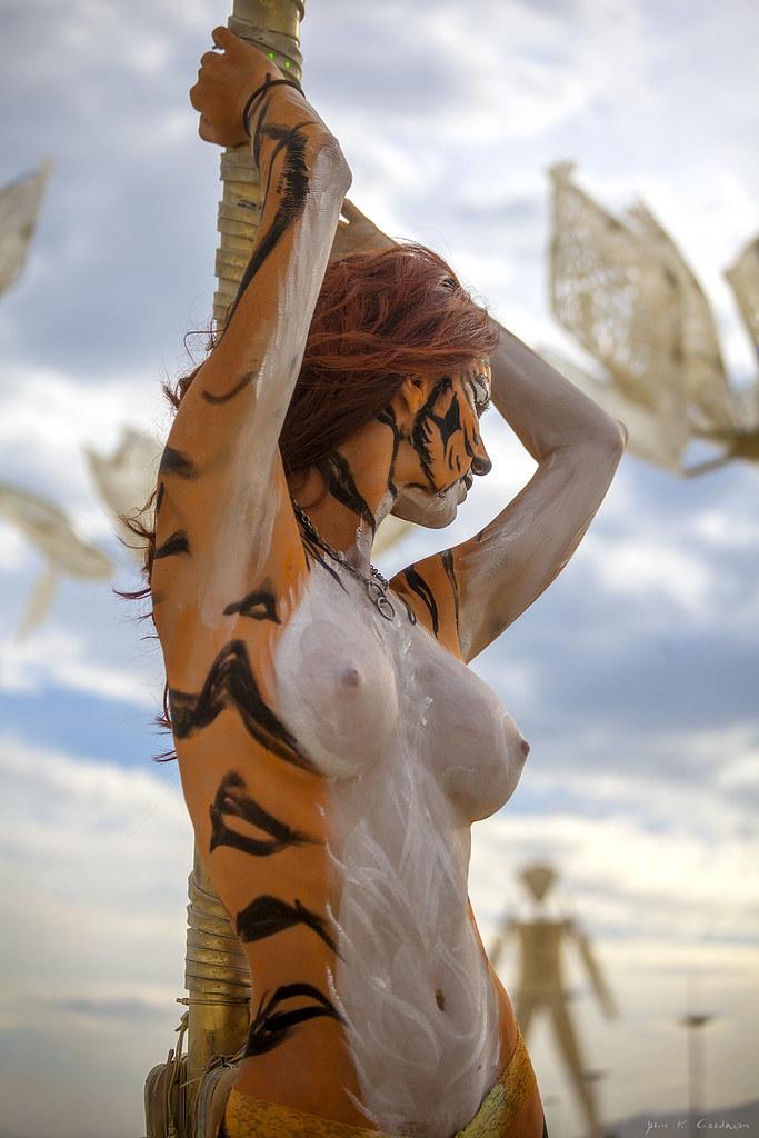 Burning Tigress  my friend Desiree posing to show off the
