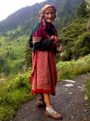 old woman in malana village
