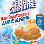HOY ultimo dia para aprovechar esta promocion de POLLO CAMPESTRE - 05sep14