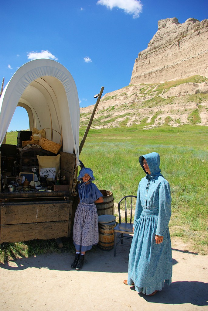 Historical Interpreters in Period Dress, Scotts Bluff National Monument, Nebraska, July 9, 2010.