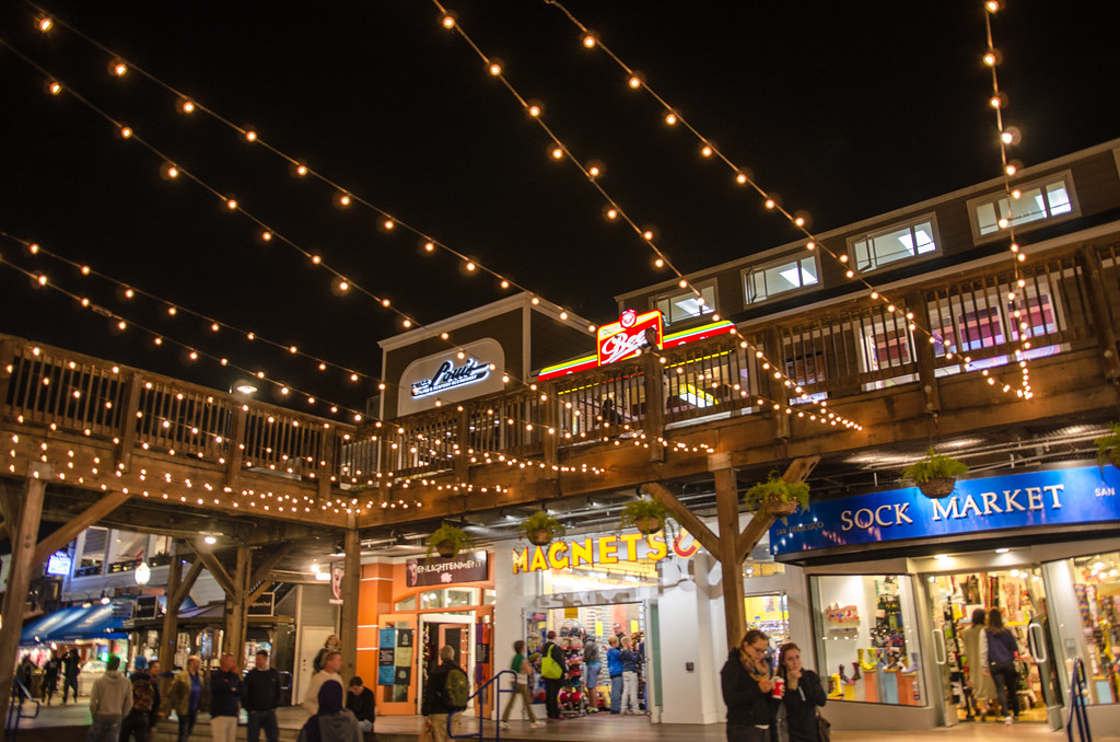 The Pier 39 shops at night  m01229  Flickr