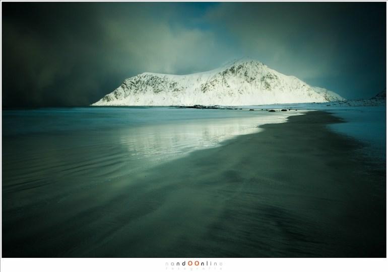 Het strand van Skagsanden