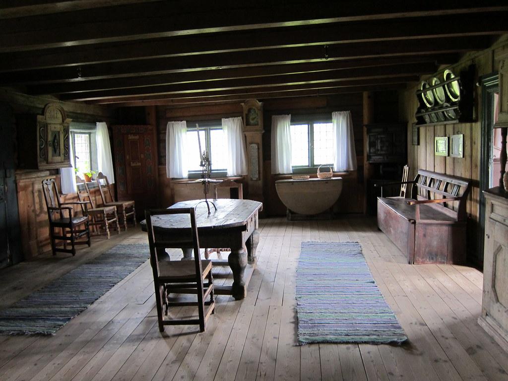 Interior living room Old Hvam farm