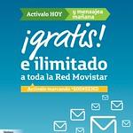 GRATIS e ilimitado MENSAJES SMS a toda la red MOVISTAR - 22jul14