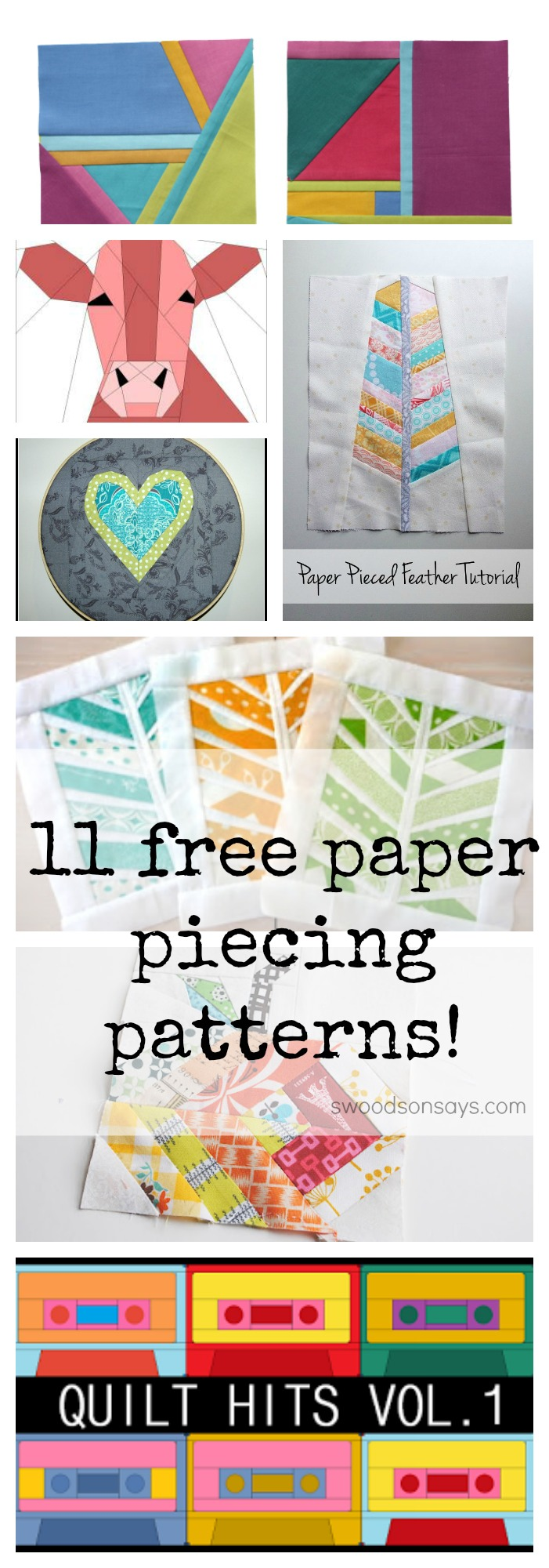 Free paper piecing patterns for foundation paper piecing