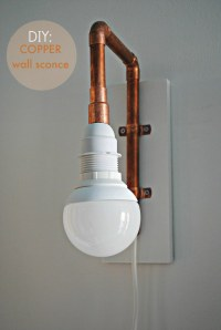 diy | copper pipe wall sconce  morestomach