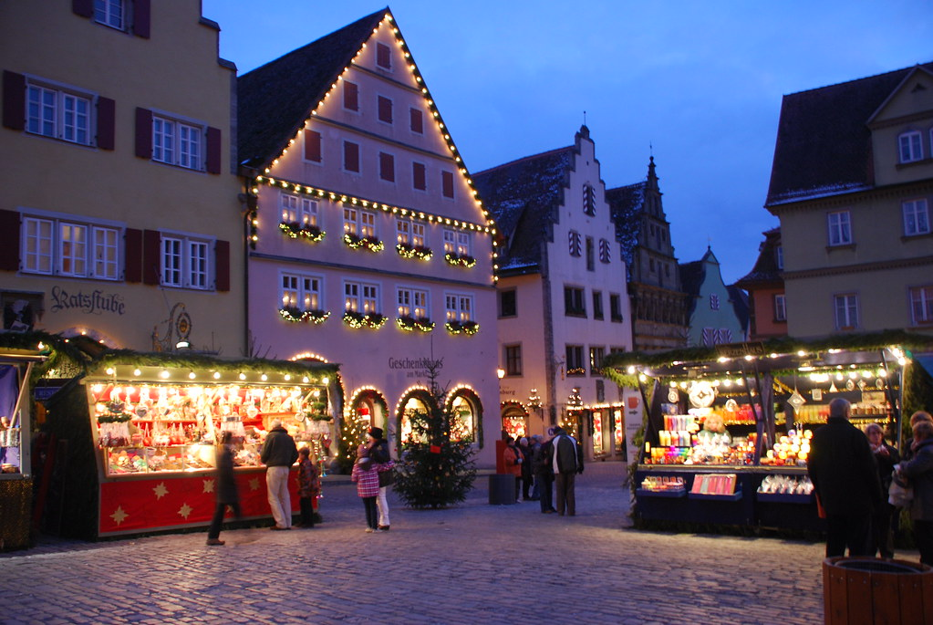 Christmas Market on Main Square in Rothenburg ob der Taube  Flickr