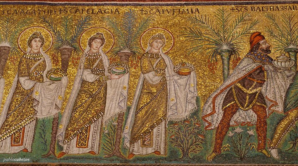 Detalle de los mosaicos de la Baslica de San Apolinar Nue