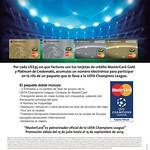 Tarjeta oficial UEFA champions league MASTERCARD - 27ago14
