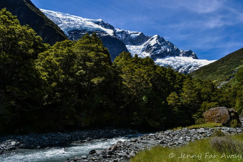 View of Rob Roy Glacier from the track.