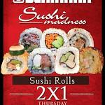 Restaurante BENIHANA sushi madness 2x1 all day long - 11sep14