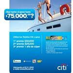 CITI bank promotion millas para viajar a america
