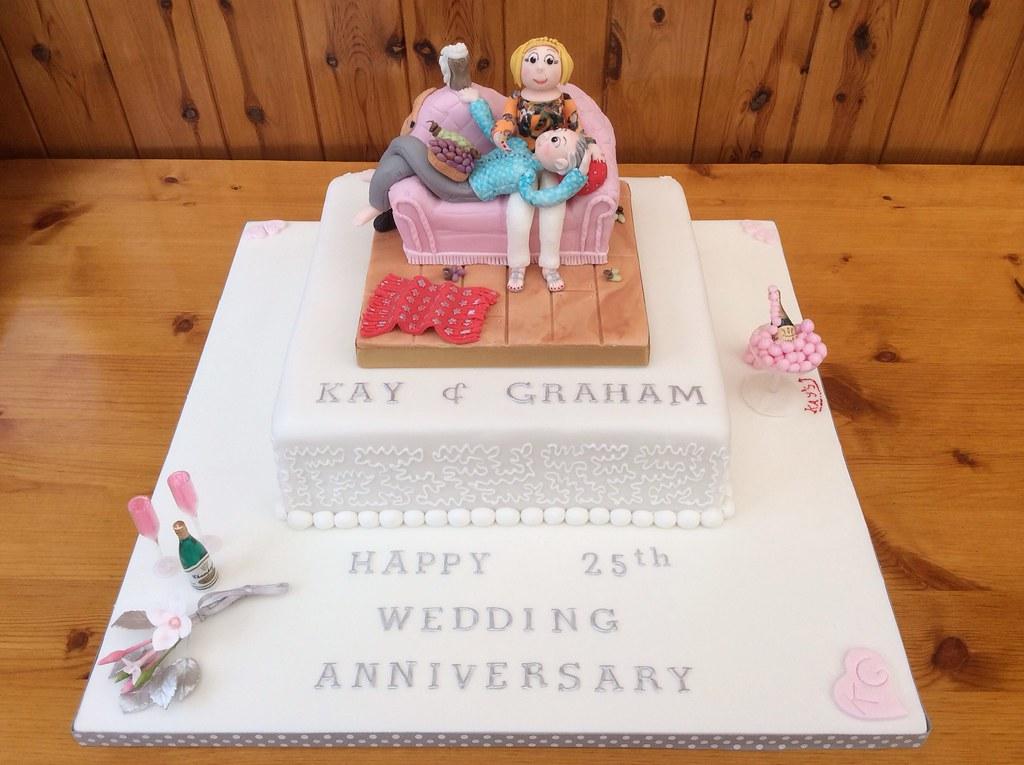 A 25th Wedding Anniversary Cake For Kay & Graham