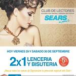 Luce bella lenceria y bisuteria PROMOCION 2x1 sears - 29ago14