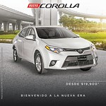 welcome to new age TOYOYA Corolla 2015