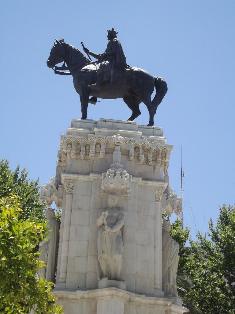 Plaza Nueva Seville Equestrian Statue Monument To Sa