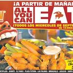 ALL YOU CAN EAT el salvador Buffallo Wings - 02sep14