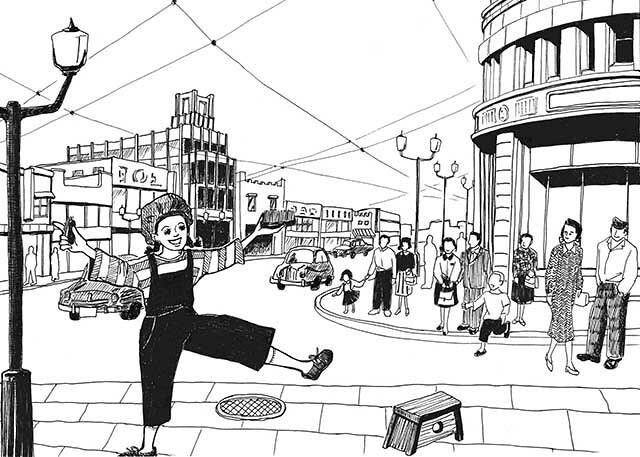 「新世」2014年11月号「思い出オルゴール」(倫理研究所)~東京キッド~ illustration for mag