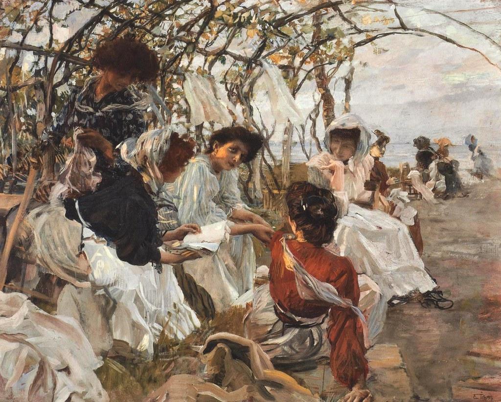 Ettore Tito  The Reading 1907  Ettore Tito December 17  Flickr