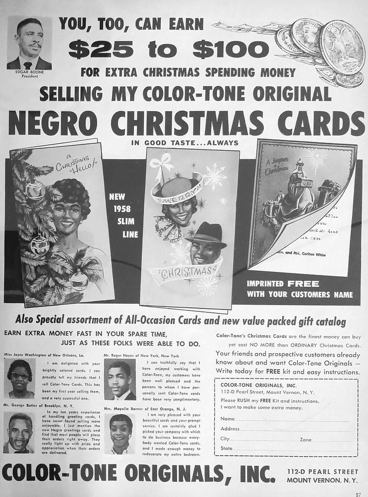 Negro Christmas Cards Vintage Ad Ebony Magazine August