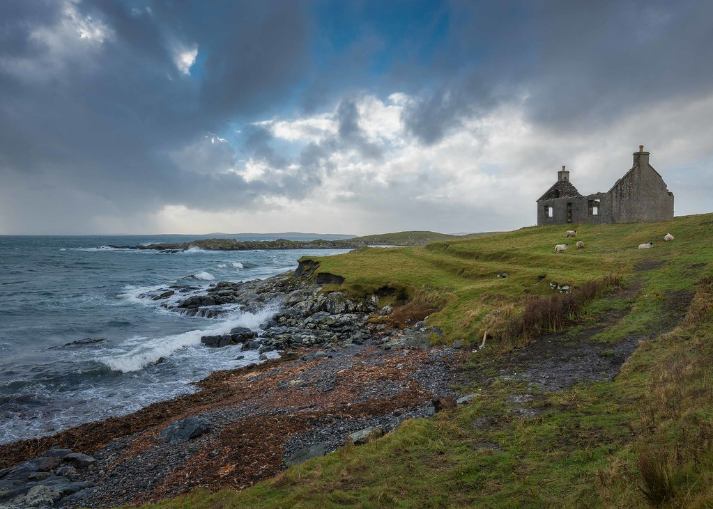 Rock And Ruin A Little Spot I Found Near Leverburgh On