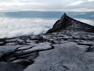 tooth-like peak on mount kinabalu