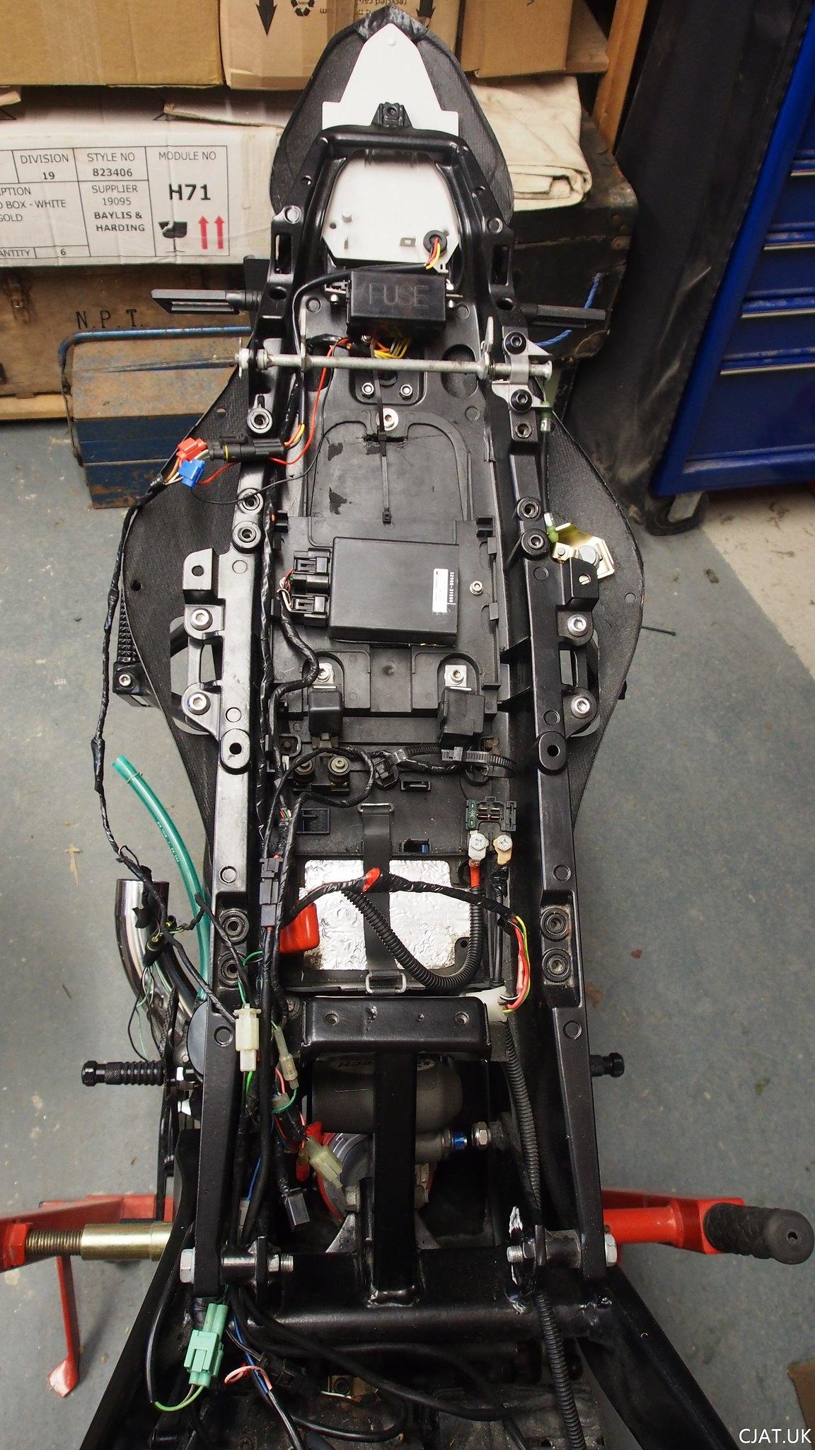 Suzuki RF900 tail swap electrics loom