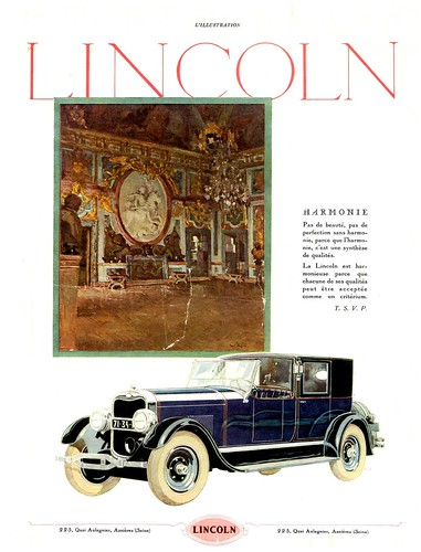 1926 Lincoln Town Car Ad (france)  Flickr  Photo Sharing