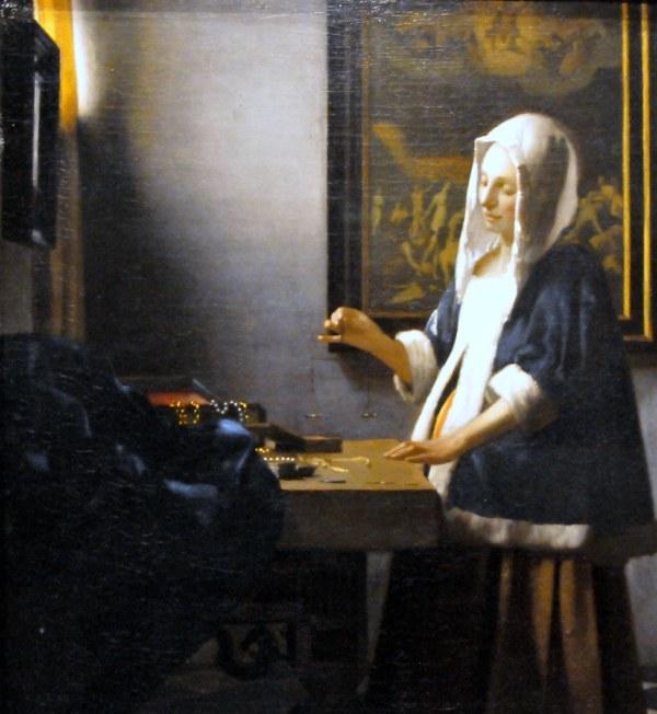 Johannes Vermeer - Woman Holding Balance National Art