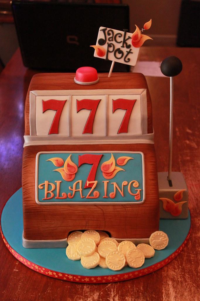 Blazing 7s Slot machine cake  All chocolate cake with