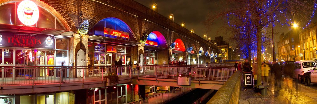 Deansgate Locks Panorama These Ten Railway Arches On