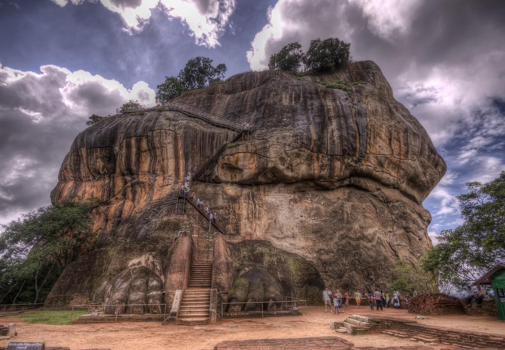 Sigiriya Sri Lanka  The great rock of Sigiriya near