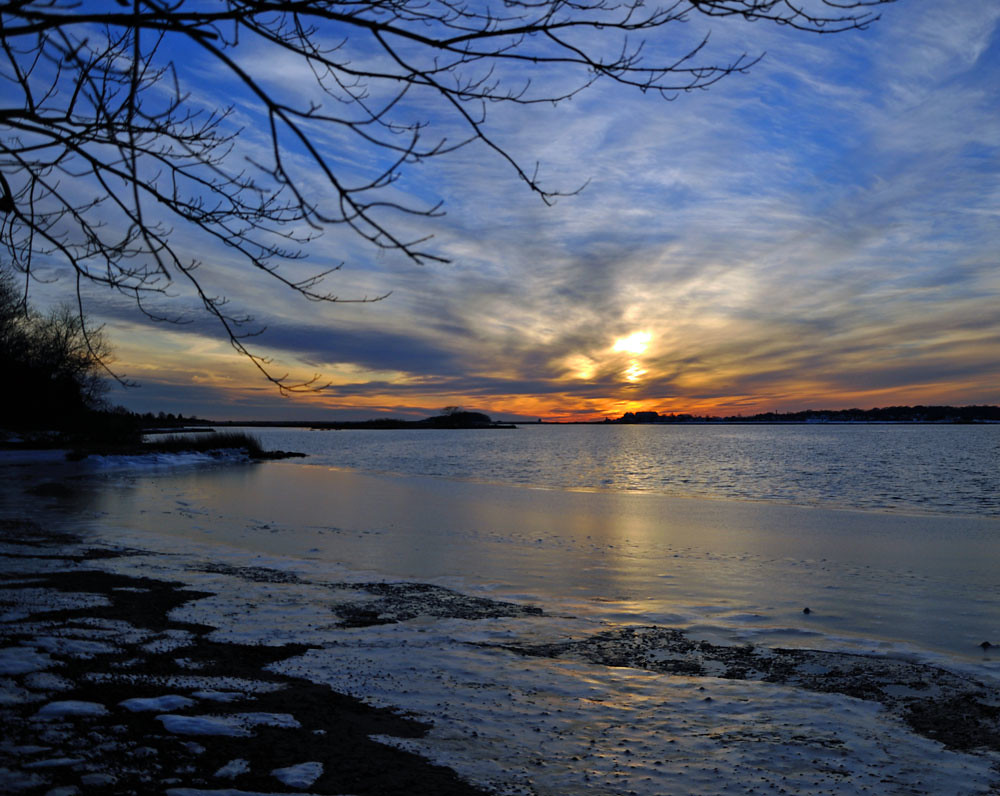 Winter Sunset at Bluff Point State Park Groton CT  Flickr