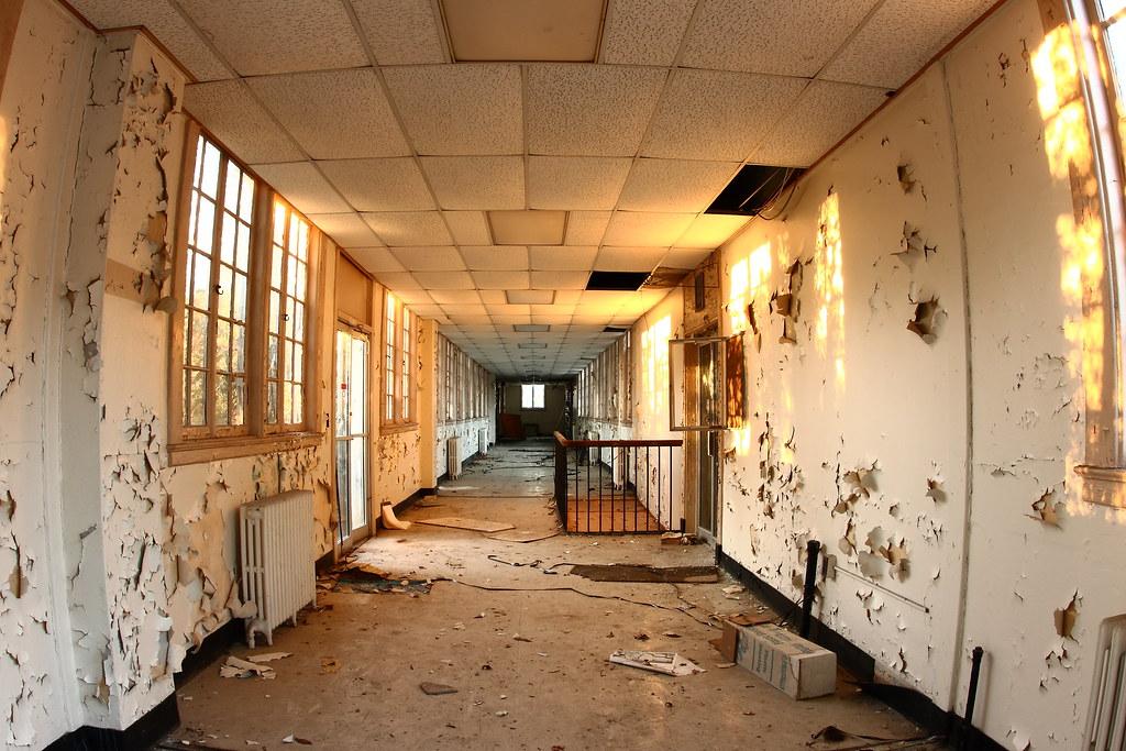 Creepy abandoned hallway Abandoned Charleston Navy Yard