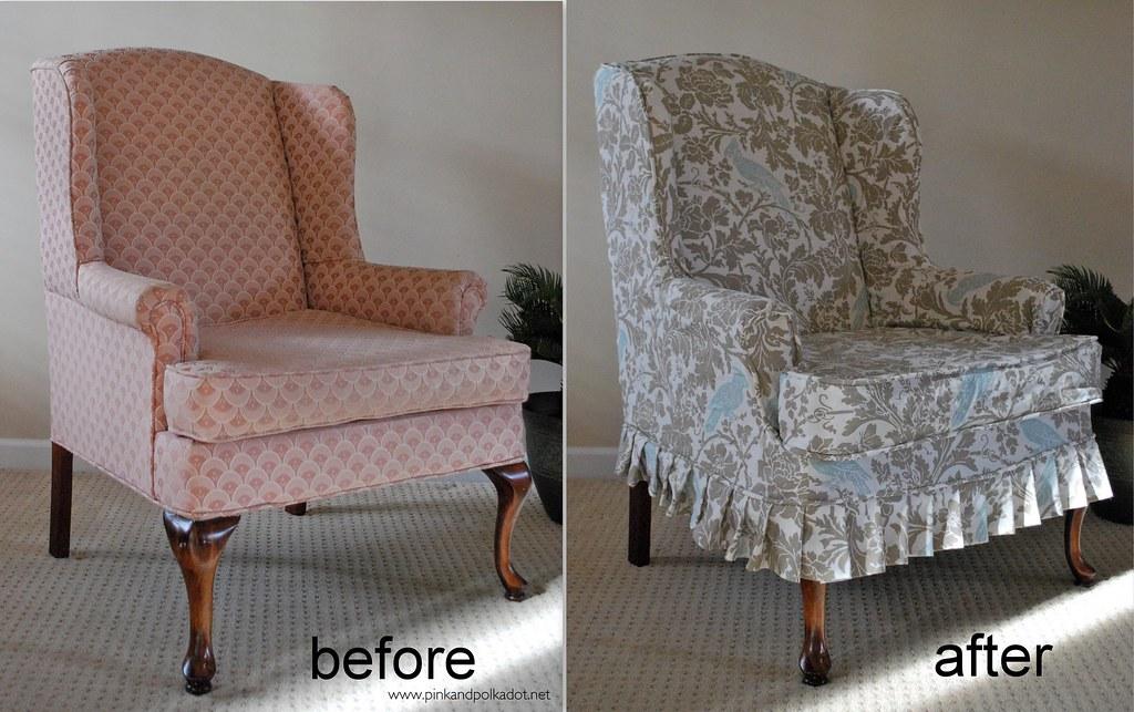 wing chair slipcover  The Slipcover Girl  Flickr