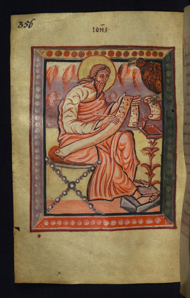 Illuminated Manuscript Gospels Of Freising Evangelist Po