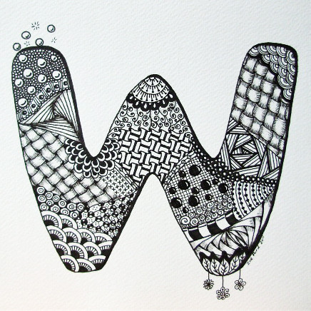 Letter W Zendoodle ZFord Personalised Letter