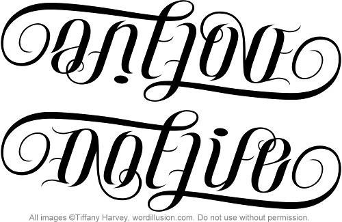 quotOne Lovequot  quotOne Lifequot Ambigram A custom ambigram of