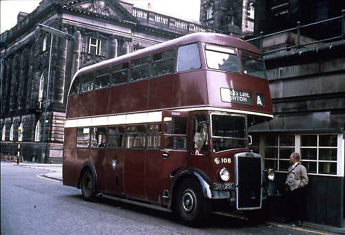 Preston Corporation Bus No108 Birley Street Preston