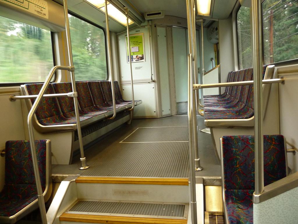 MBTA Green Line Type 8 LRV 3820 interior  This is the
