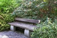 Pin Japanese Gardens Bench Seat Flowers Garden Pond ...