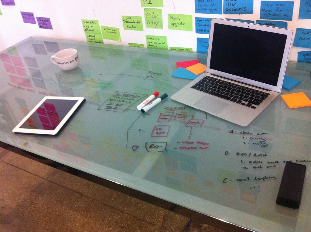 Office hacks glass desks make great whiteboards  Matthew