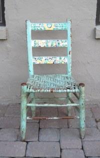 Chippy blue mosaic chair