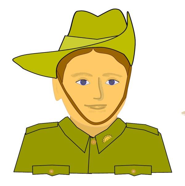 Anzac Soldier Clip Art Image