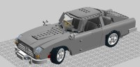 A Lego scale model of the DB5