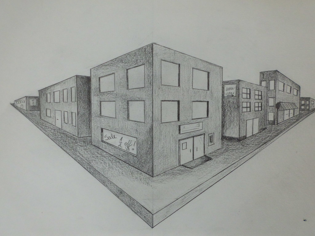 One Point Perspective Shapes