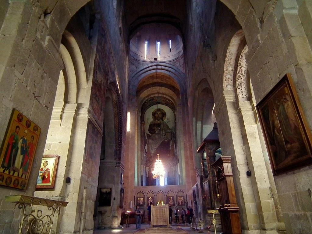 Interior of the Svetitskhoveli Cathedral in Mtskheta  Flickr
