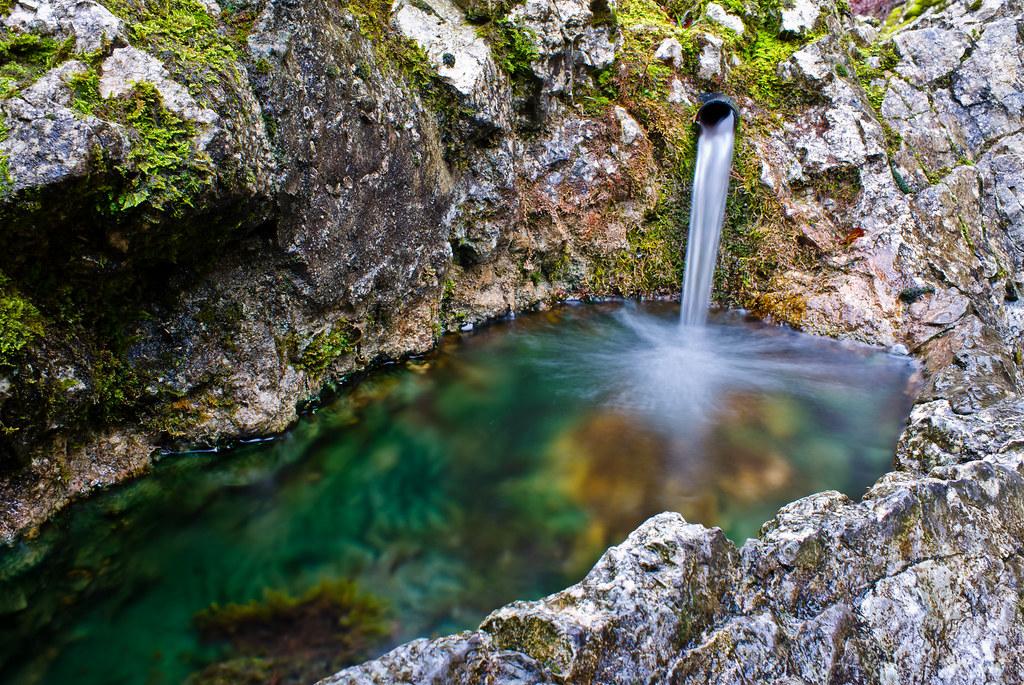 Natural fountain in Gorge de Covatannaz  Works best when yo  Flickr
